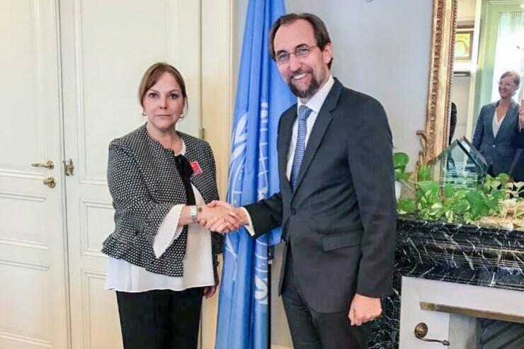 Mitzy Capriles de Ledezma en la ONU