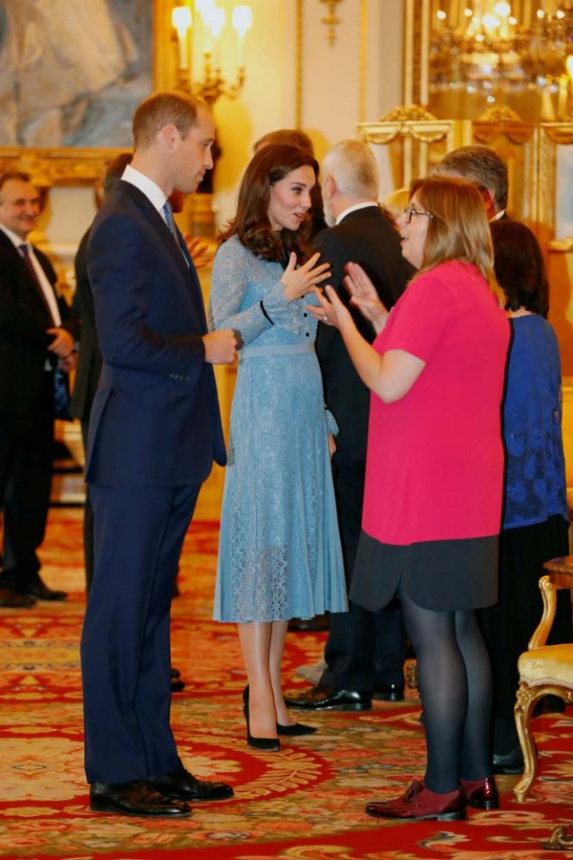 Britain's Prince William, Duke of Cambridge and Catherine Duchess of Cambridge celebrate World Mental Health Day at Buckingham Palace in London, Britain, October 10, 2017. REUTERS/ Heathcliff O'Malley/Pool