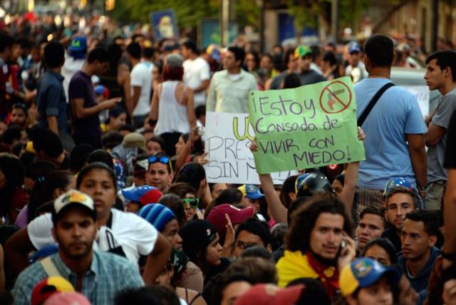 Este jueves los estudiantes continuaron en las calles (Foto AFP)