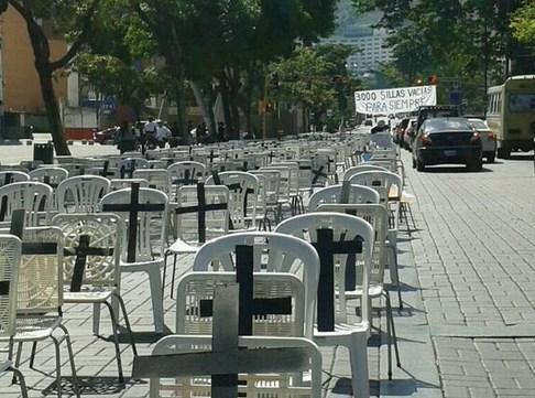 protesta Las Mercedes @frankcer24