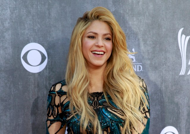 Colombian singer-songwriter Shakira arrives at the 49th Annual Academy of Country Music Awards in Las Vegas