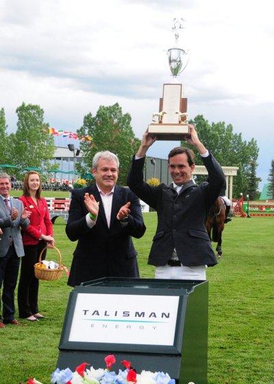 Andres Rodriguez recibe premio a Mejor Jinete en Le Touquet Francia mayo 2014
