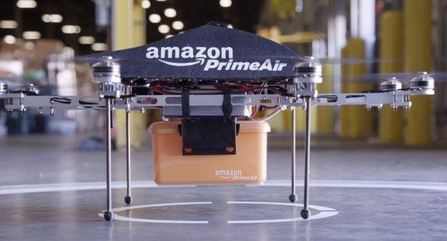 Prototipo del drone Amazon Prime Air. Foto Amazon