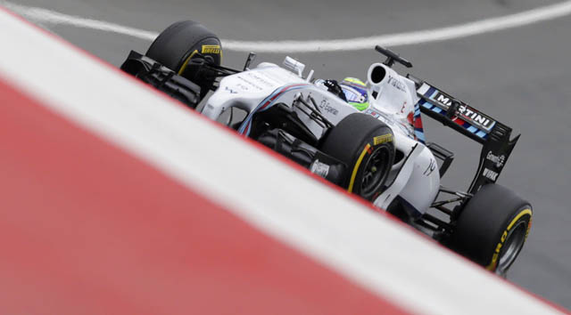 Williams Formula One driver Massa of Brazil pilots his car during the qualification round for the Austrian Grand Prix at the Red Bull Ring circuit in Spielberg