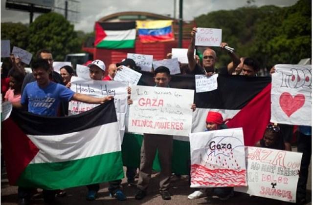 Protestas Embajada palestina