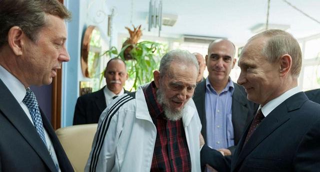 Vladimir Putin sostuvo una reunión con Fidel Castro durante su visita a La Habana. / Foto Reuters
