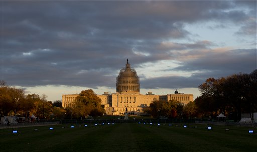 Imagen del edificio del Capitolio de Washington el 11 de noviembre de 2014. Washington podría ser una de las ciudades estadounidenses candidata a los Juegos Olímpicos de 2024.