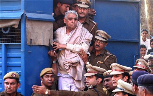 El guru Sant Rampal Mientras es arrestado / AP