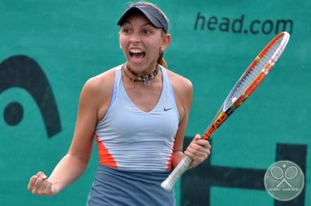 Katherine Valencia (VEN) celebrando un winner