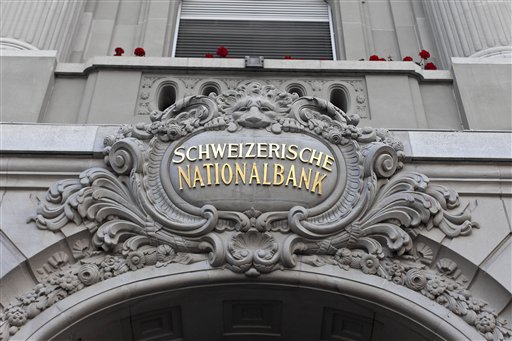 Foto: La fachada del Banco Nacional de Suiza en Berna / AP
