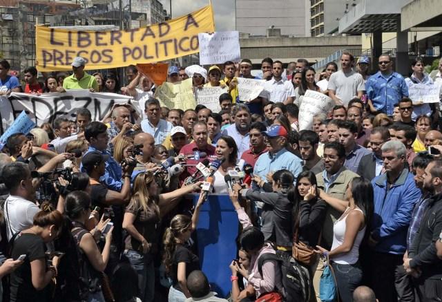 VENEZUELA-POLITCS-LEDEZMA-DEMO