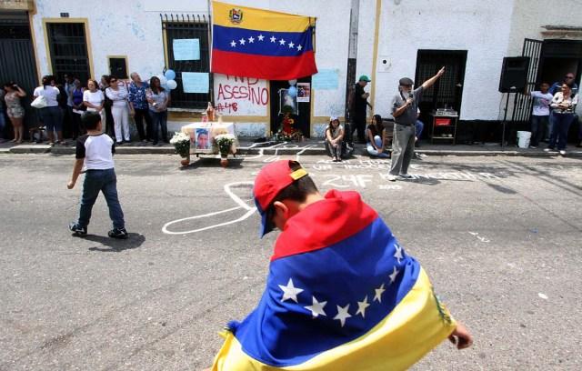 VENEZUELA-VIOLENCE-STUDENT-FUNERAL