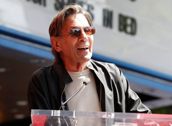 "File photo of 'Star Trek"" television series actor Leonard Nimoy at an unveiling of actor Walter Koenig's star on the Hollywood Walk of Fame in Hollywood"