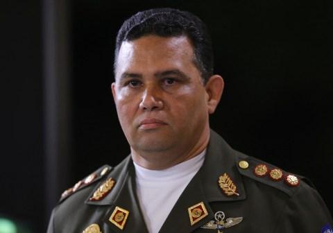 Venezuela's General Gustavo Gonzalez stands during a national TV broadcast in Caracas