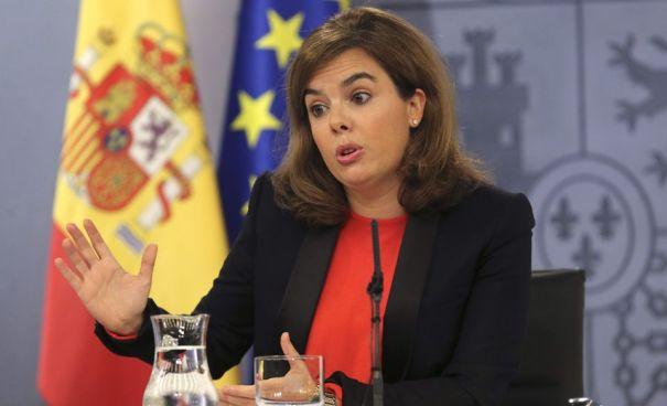 Foto: vicepresidenta del gobierno español, Soraya Saénz de Santamaría / EFE