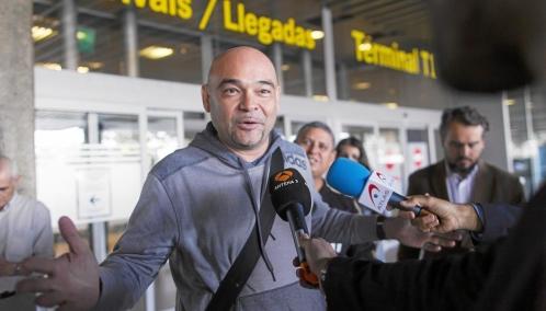 El diputado opositor Julio Montoya, poco después de llegar a Madrid