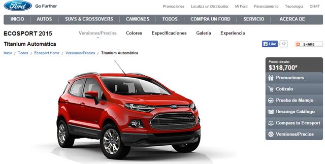 Ford-EcoSport-precio