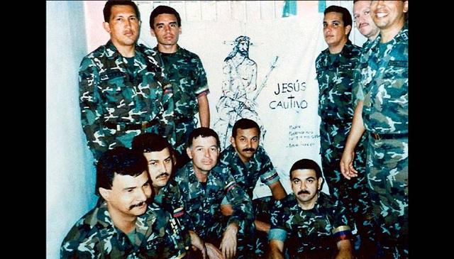 Unlusión grupo de militares golpistas de 1992, en una de sus salas de rec
