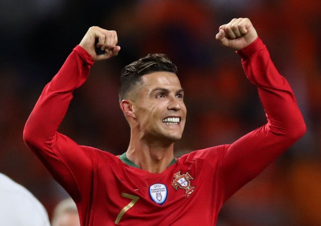 El portugués Portugal Cristiano Ronaldo celebra la final de la UEFA Nations League Action Images a través de Reuters / Carl Recine