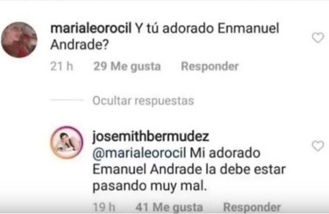 """josemith emanuel - """"Y si te he visto no me acuerdo"""": Josemith Bermúdez ya no es amiga del hijo del """"Tuerto"""" Andrade"""
