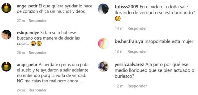 Comentarios Norkys - Critican a Norkys Batista por burlarse de los venezolanos que le piden ayuda (CAPTURAS)