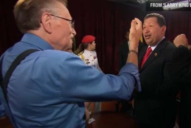 Chavez - Así fue como Larry King reveló el secreto mejor guardado de Chávez (VIDEO)