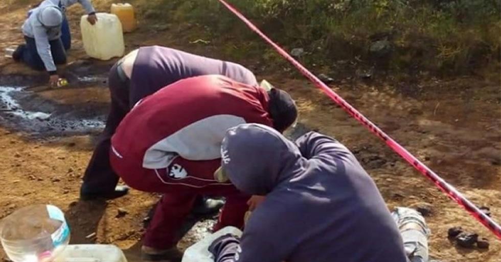 Roban gasolina en Hidalgo por fuga de ducto