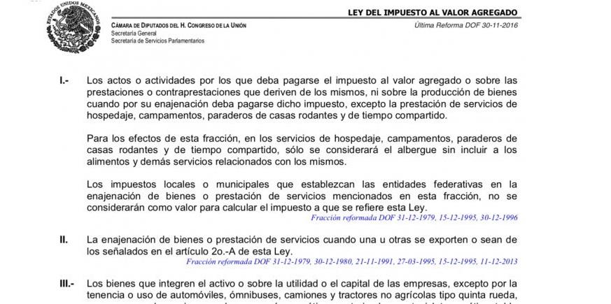 Prohíbe ley cobrar iva en servicios profesionales