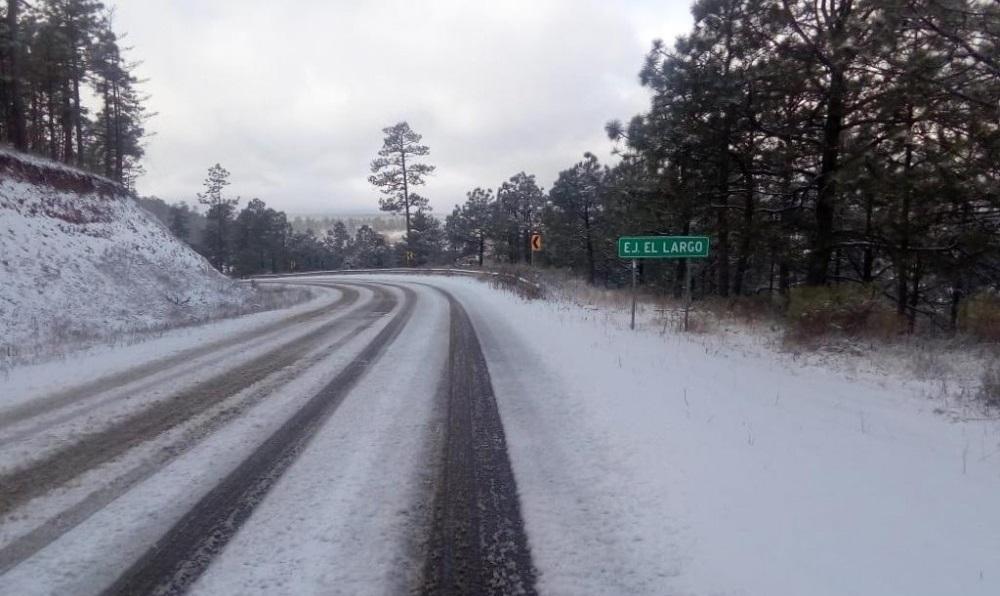 Cae nieve en dos municipios, habrá tolvaneras en tramo Sueco-Ahumada