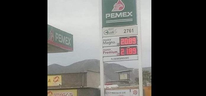 Venden casi a ¡21 pesos! el litro de magna en Camargo