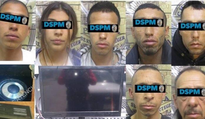 Detienen a siete por robo y posesión se sustancias toxicas