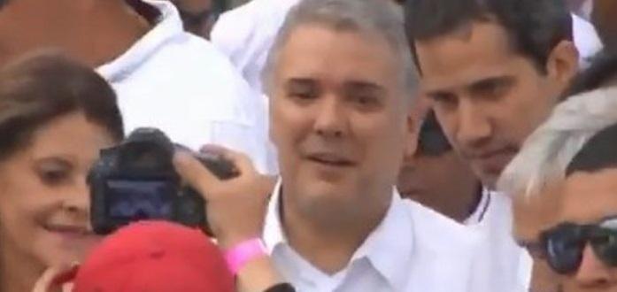 Llega Juan Guaidó a Venezuela Aid Live