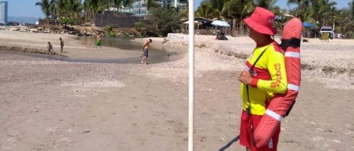Fuga de aguas negras contamina playas de Puerto Vallarta