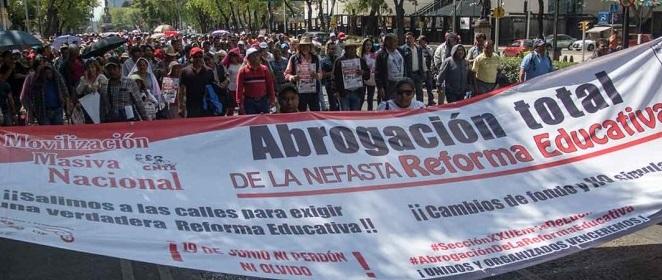 CNTE Oaxaca alista movilización de 16 mil maestros a CDMX