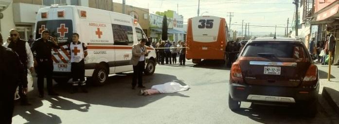 Muere atropellada por rutero en Cuauhtémoc