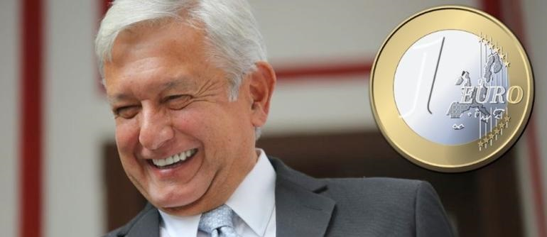 """Emite AMLO """"bursa"""" por 2 mil 500 millones de euros"""