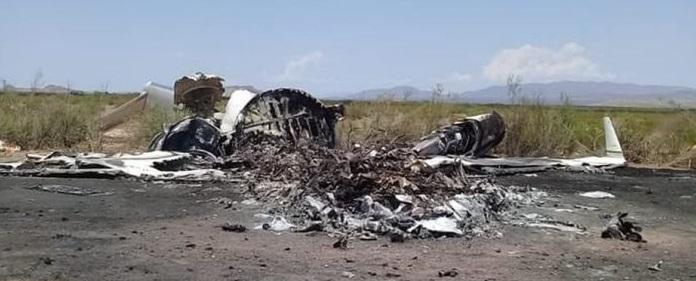 Inician rescate de cuerpos del avión accidentado en Coahuila