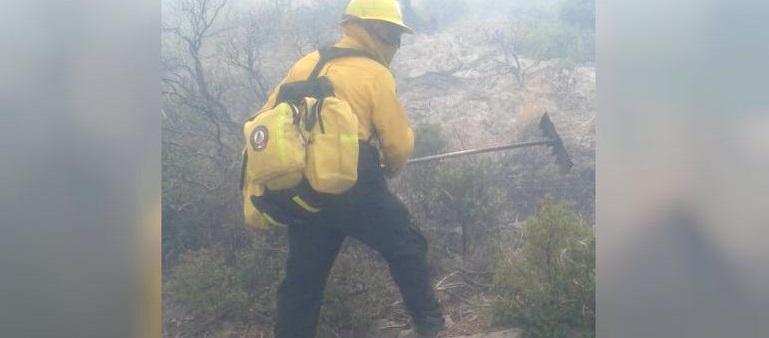Atienden 96 combatientes un incendio en Cerro Blanco, Bocoyna