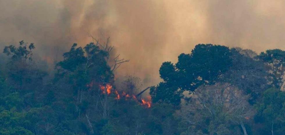 El humo de incendios en el Amazonas llega hasta Argentina