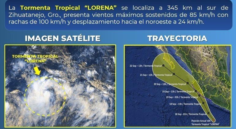 Alerta en varios estados por Lorena; traerá tormentas