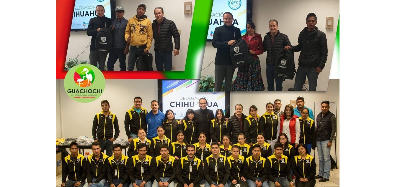 Realizan entrega de uniformes deportivos a jóvenes que acudirán a encuentro deportivo en Comitán de Domínguez, Chiapas
