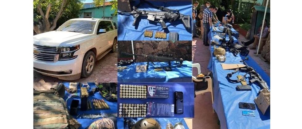 Aseguran Barret, AK-47, rifle de precisión y 3 armas largas