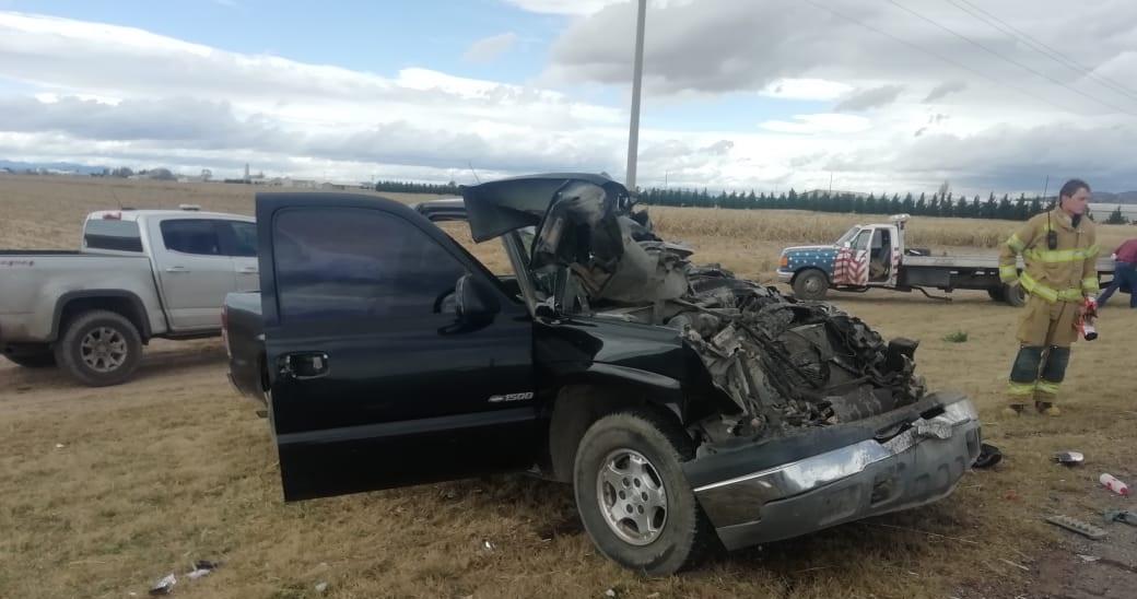 Aparatoso accidente en Cuauhtémoc deja 5 heridos