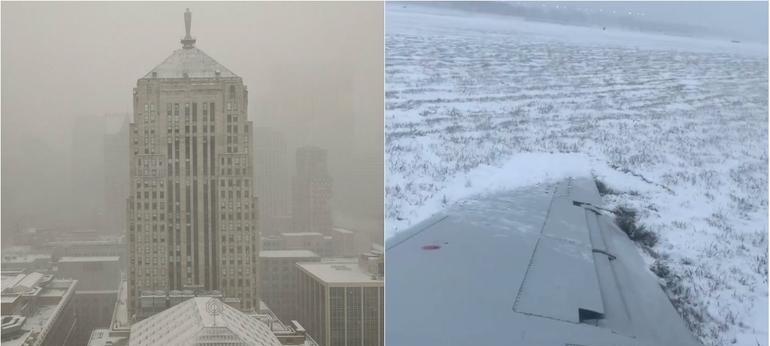 Tormenta invernal paraliza Chicago; cancelan 918 vuelos