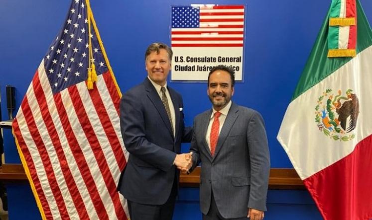 Pide embajador de EU a México disminuir tiempo de espera en cruces internacionales