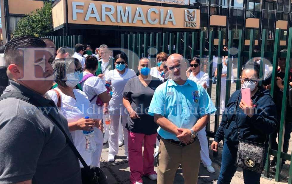 Protesta personal de enfermería y médicos en el Morelos