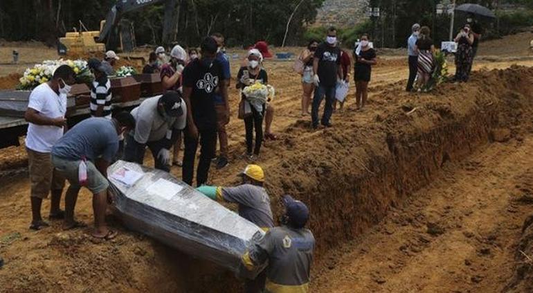 Brasil registra 1 mil muertos y 20 mil contagios más en 24 horas
