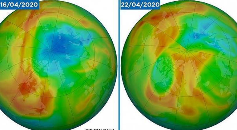 Capa de ozono del Ártico se cerró por causa natural, no por cuarentena