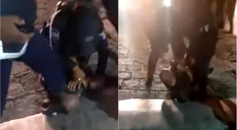 """VIDEO: """"Como a Floyd"""": Policía casi asfixia a detenido en Guanajuato"""