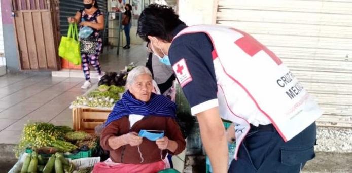 Ha atendido cruz roja a más de 277 mil personas durante la pandemia